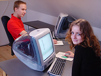 Computer graphics classes in Janis Rozentals' Riga Art College