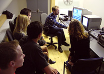 Video editing class in Janis Rozentals' Riga Art College
