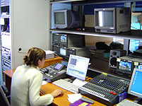 PBK news studio machine room