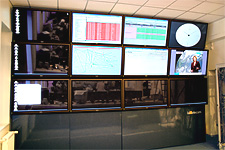 Lattelecom monitoring center - system visualization wall